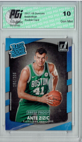 Ante Zizic 2017 Donruss #186 Press Proof 299 Made Rookie Card PGI 10