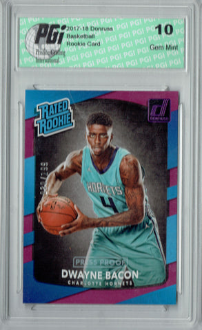 Dwayne Bacon 2017 Donruss #161 Purple SP 199 Made Rookie Card PGI 10