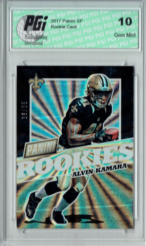 Alvin Kamara 2017 Panini SP #FB46 Lasers SP, 25 Made Rookie Card PGI 10