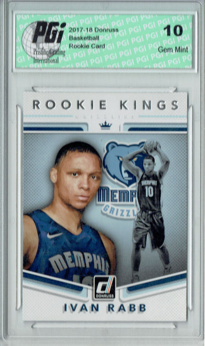 Ivan Rabb 2017 Donruss #7 Rookie Kings SP Rookie Card PGI 10