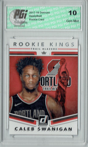 Caleb Swanigan 2017 Donruss #15 Rookie Kings SP Rookie Card PGI 10