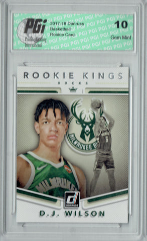D.J. Wilson 2017 Donruss #17 Rookie Kings SP Rookie Card PGI 10