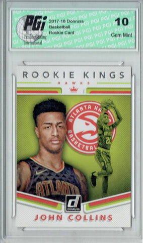 John Collins 2017 Donruss #19 Rookie Kings SP Rookie Card PGI 10