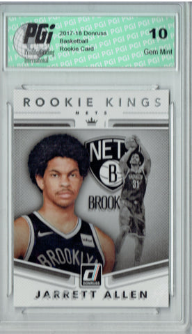 Jarrett Allen 2017 Donruss #22 Rookie Kings SP Rookie Card PGI 10