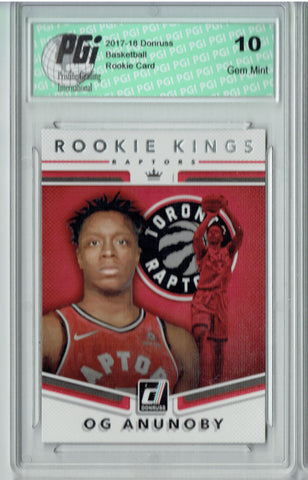 OG Anunoby 2017 Donruss #23 Rookie Kings SP Rookie Card PGI 10