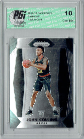 John Collins 2017-18 Panini Prizm #109 NBA Rookie Card PGI 10