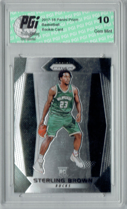 Sterling Brown 2017-18 Panini Prizm #188 NBA Rookie Card PGI 10