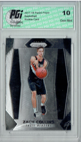 Zach Collins 2017-18 Panini Prizm #144 NBA Rookie Card PGI 10