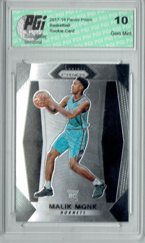 Malik Monk 2017-18 Panini Prizm #233 NBA Rookie Card PGI 10