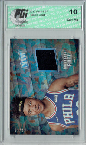 Markelle Fultz 2017 Panini #MS-MF Cracked Ice Hat 25 Made  Rookie Card PGI 10