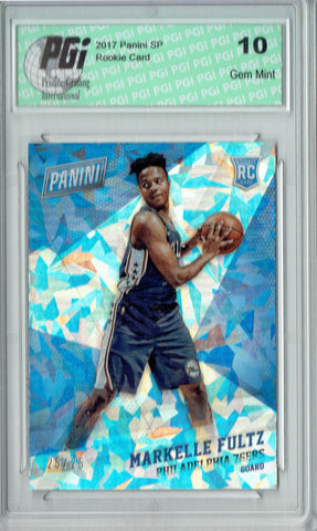 Markelle Fultz 2017 Panini SP #51 Cracked Ice SP 25 Made Rookie Card PGI 10