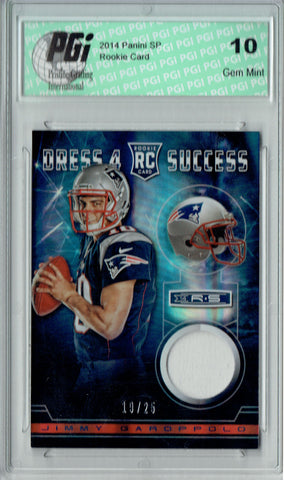 Jimmy Garoppolo 2014 Rookies Stars #DS-JG White Patch 19/25 Rookie Card PGI 10