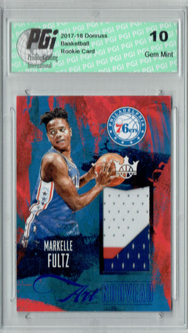 Markelle Fultz 2017 Court Kings #AN-MF 3 Color Patch #16/25 Rookie Card PGI 10