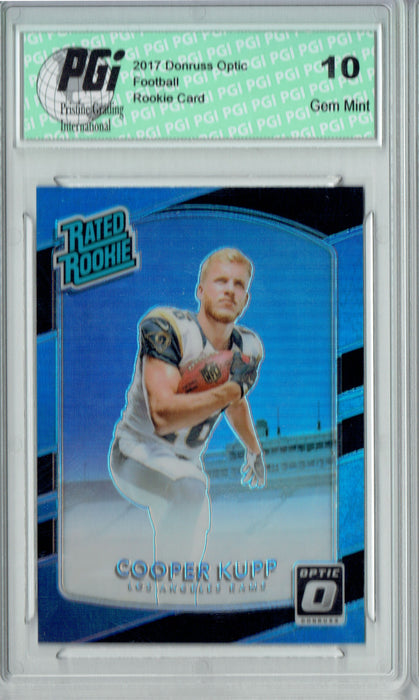 Cooper Kupp 2017 Donruss Optic #179 Black Prizm 25 Made Rookie Card PGI 10