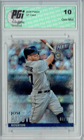 Jose Altuve 2016 Panini #14 Shimmer SP, Only 10 Ever Made Card PGI 10