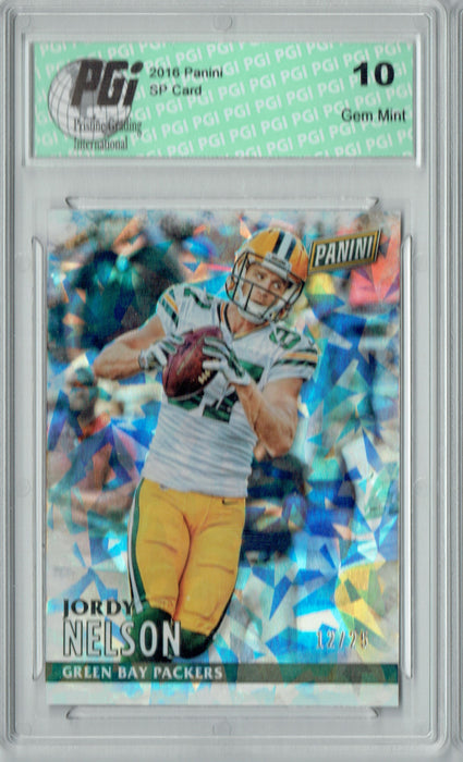Jordy Nelson 2016 Panini #19 Cracked Ice SP, Only 25 Made Card PGI 10