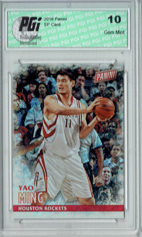 Yao Ming 2016 Panini #43 Shimmer SP, Only 10 Ever Made Card PGI 10