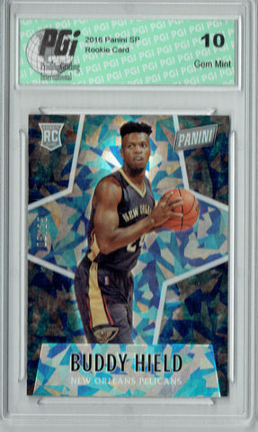 Buddy Hield 2016 Panini #52 Cracked Ice, 25 Made Rookie Card PGI 10