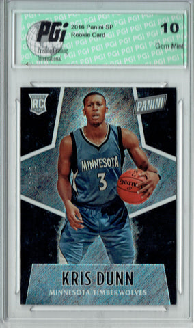 Kris Dunn 2016 Panini #53 Glitter SP, 10 Made Rookie Card PGI 10