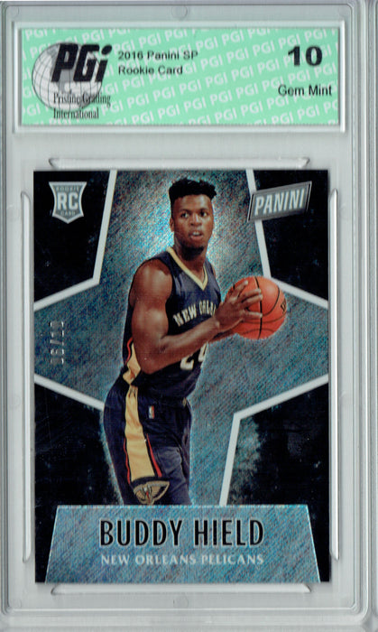 Buddy Hield 2016 Panini #52 Glitter SP, 10 Made Rookie Card PGI 10