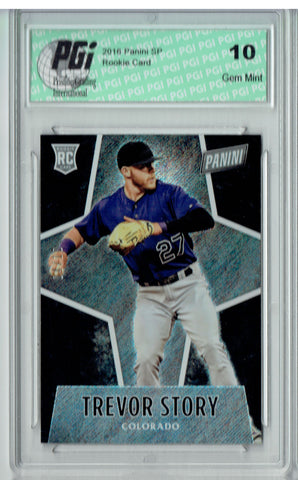 Trevor Story 2016 Panini #69 Glitter SP, 10 Made Rookie Card PGI 10