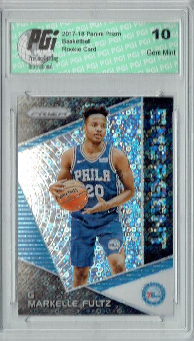 Markelle Fultz 2017 Prizm #EM-MAR Fast Break Emergent SP Rookie Card PGI 10