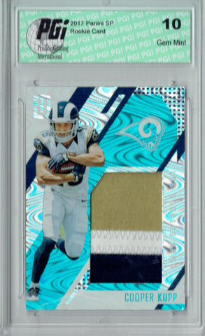 Cooper Kupp 2017 Unparalleled #RS-CK 3 Color Patch 25 Made Rookie Card PGI 10