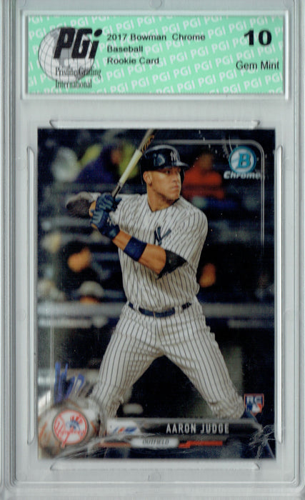 Aaron Judge 2017 Bowman Chrome #56 Rookie Card PGI 10