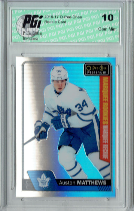 Auston Matthews 2016 O-Pee-Chee Platinum #151 Rainbow Rookie Card PGI 10