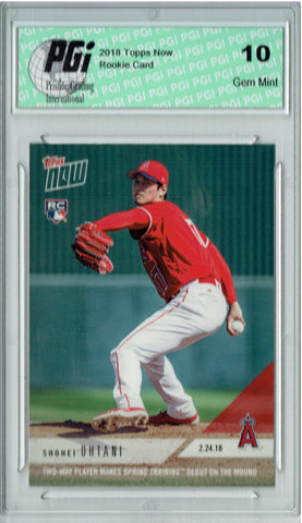 Shohei Ohtani 2018 Topps Now #ST-4 MLB Debut 11,384 Made Rookie Card PGI 10