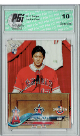 Shohei Ohtani 2018 Topps Opening Day #200 SP Rookie Card PGI 10