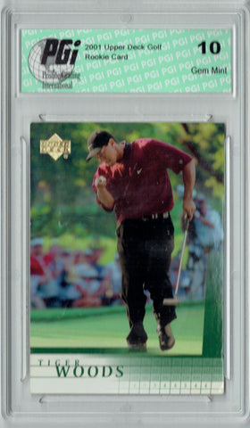 Tiger Woods 2001 Upper Deck Golf #1 Rookie Card PGI 10