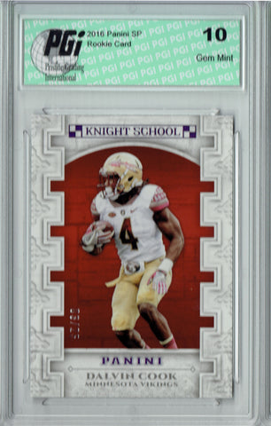 Dalvin Cook 2016 Panini Knight School #KNS-DC 3/25 Made Rookie Card PGI 10