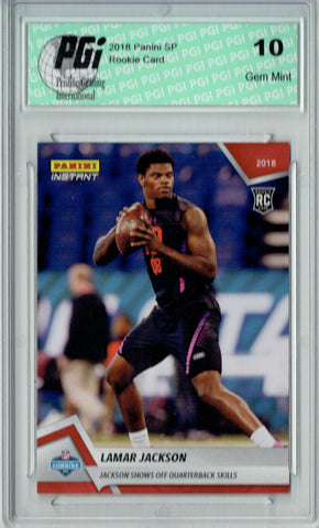 Lamar Jackson 2018 Panini Instant #5 Only 467 Made Rookie Card PGI 10