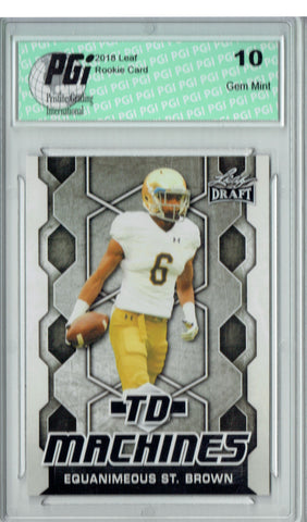 Equanimeous St. Brown 2018 Leaf Draft #TD-07 TD Machines Rookie Card PGI 10