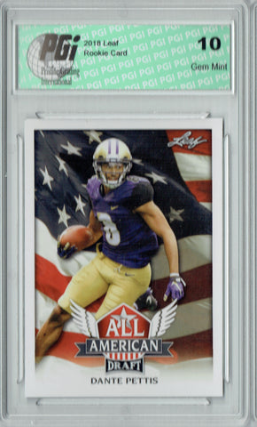 Dante Pettis 2018 Leaf Draft #AA-04 All American Rookie Card PGI 10