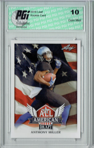 Anthony Miller 2018 Leaf Draft #AA-01 All American Rookie Card PGI 10