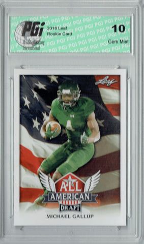Michael Gallup 2018 Leaf Draft #AA-09 All American Rookie Card PGI 10