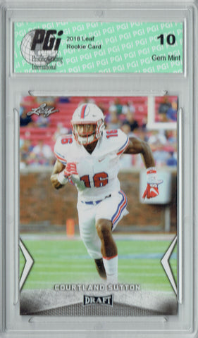Courtland Sutton 2018 Leaf Draft #12 Rookie Card PGI 10