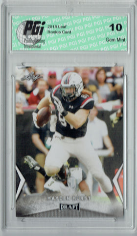 Hayden Hurst 2018 Leaf Draft #24 Rookie Card PGI 10