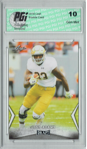 Josh Adams 2018 Leaf Draft #30 Rookie Card PGI 10