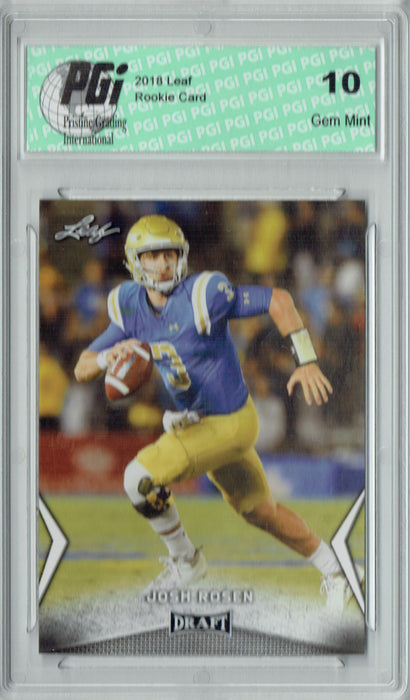 Josh Rosen 2018 Leaf Draft #32 Rookie Card PGI 10