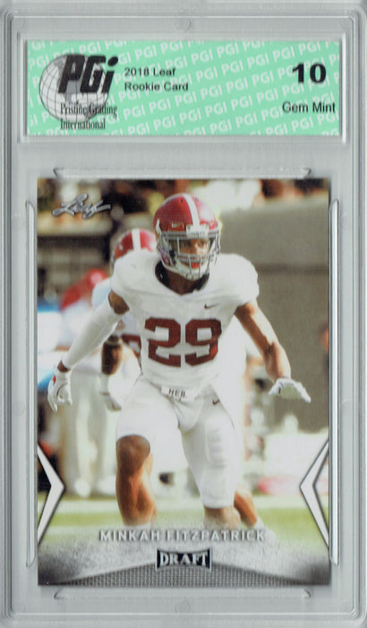 Minkah Fitzpatrick 2018 Leaf Draft #43 Rookie Card PGI 10