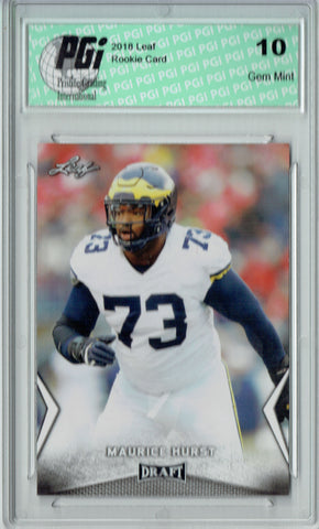 Maurice Hurst 2018 Leaf Draft #40 Rookie Card PGI 10