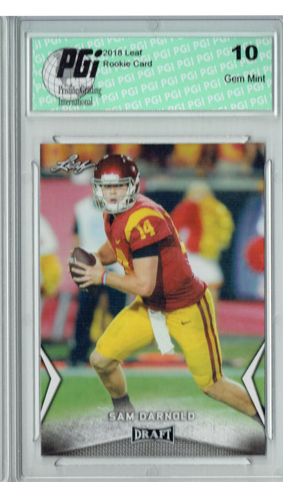 Sam Darnold 2018 Leaf Draft #54 Rookie Card PGI 10