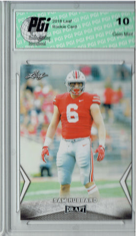 Sam Hubbard 2018 Leaf Draft #55 Rookie Card PGI 10