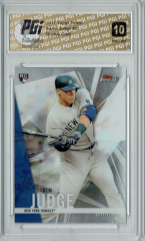 Aaron Judge 2017 Topps Finest #2 PRISTINE Rookie Card PGI 10