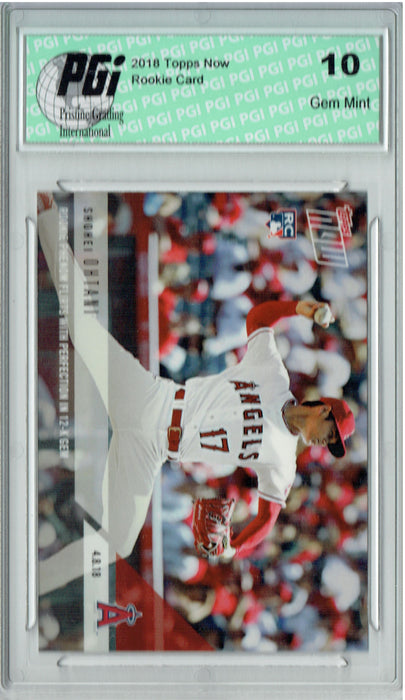 Shohei Ohtani 2018 Topps Now #53 12k Gem, Only 4,218 Made Rookie Card PGI 10