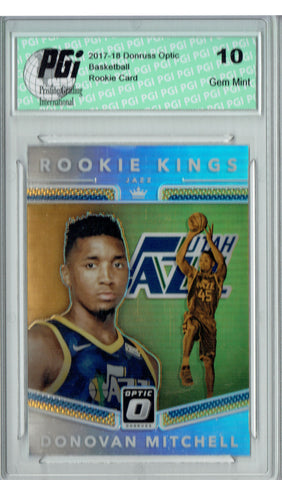 Donovan Mitchell 2018 Donruss Optic #13 Rookie Kings Silver Rookie Card PGI 10