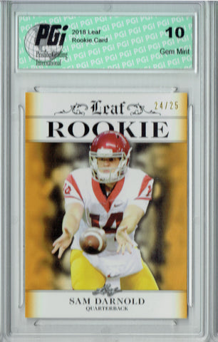 Sam Darnold 2018 Leaf Exclusive #RA-04 Gold SP Only 25 Made Rookie Card PGI 10